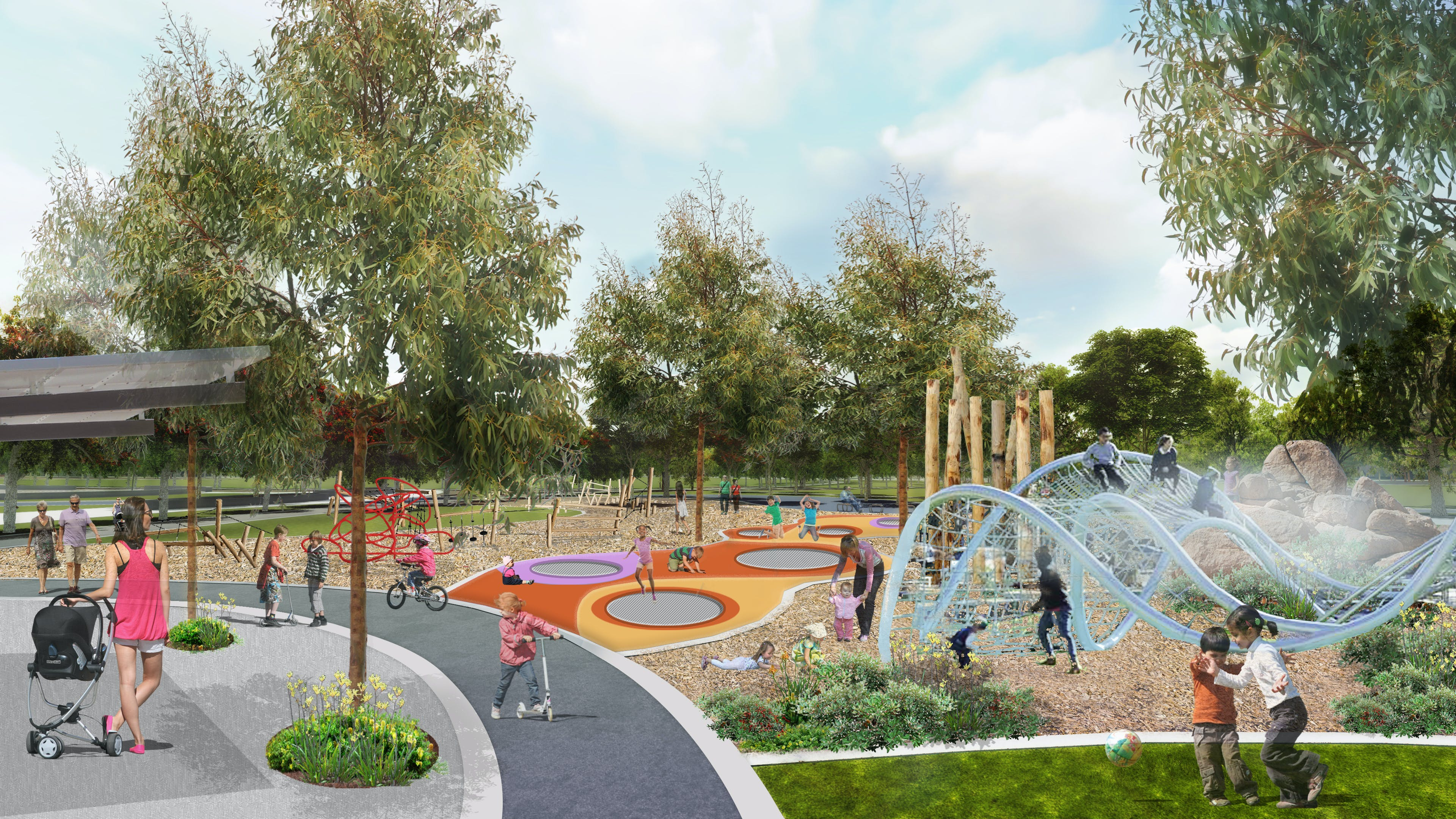 Intergenerational Playground (artist's impression)