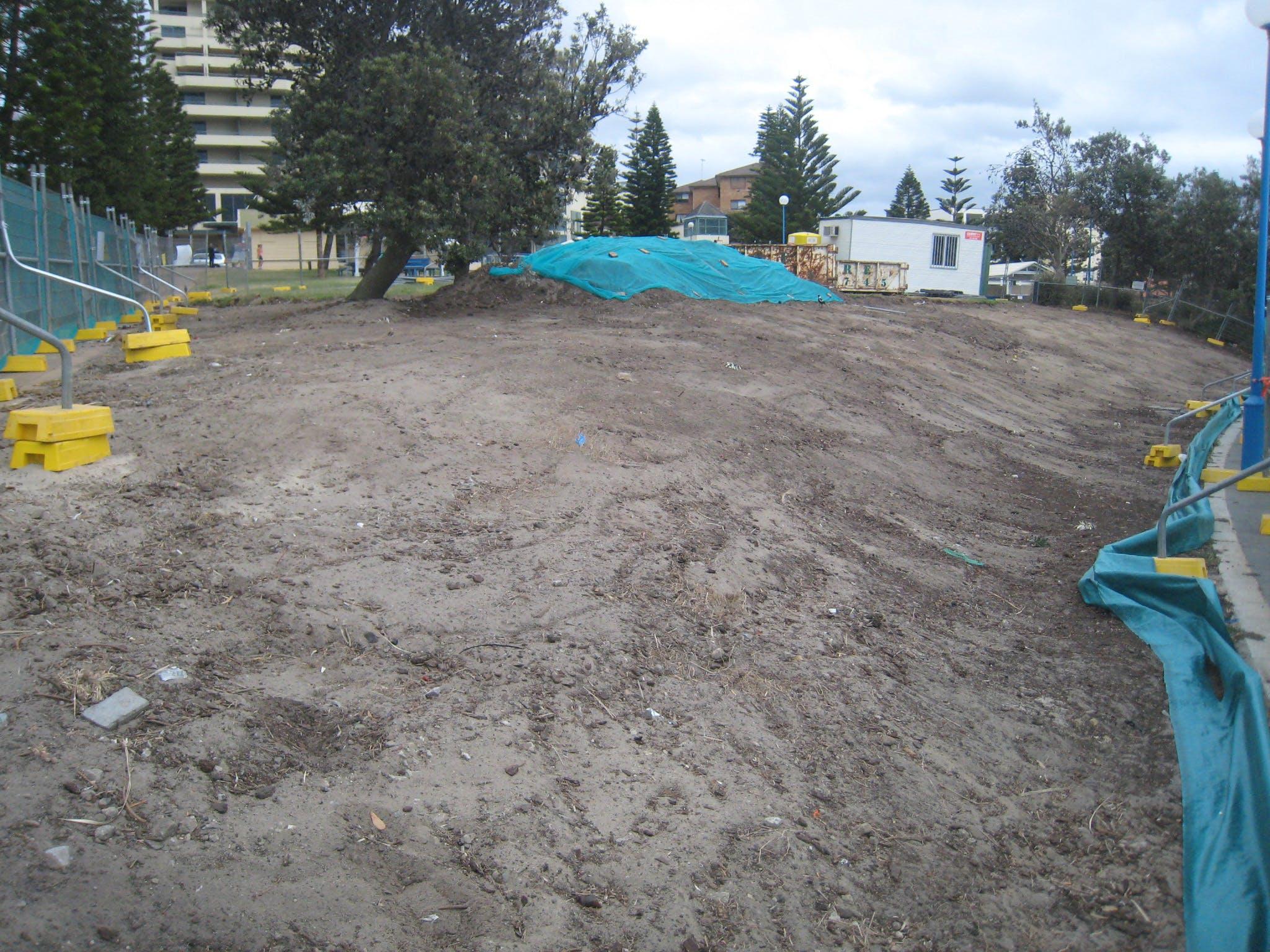 Construction of Fallen Lifesavers Memorial