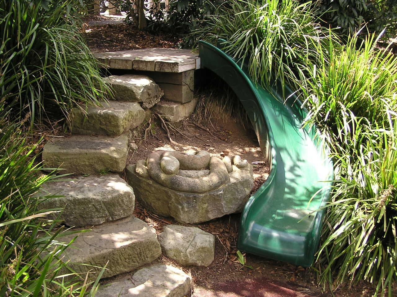 Curved Slide Stone Snake