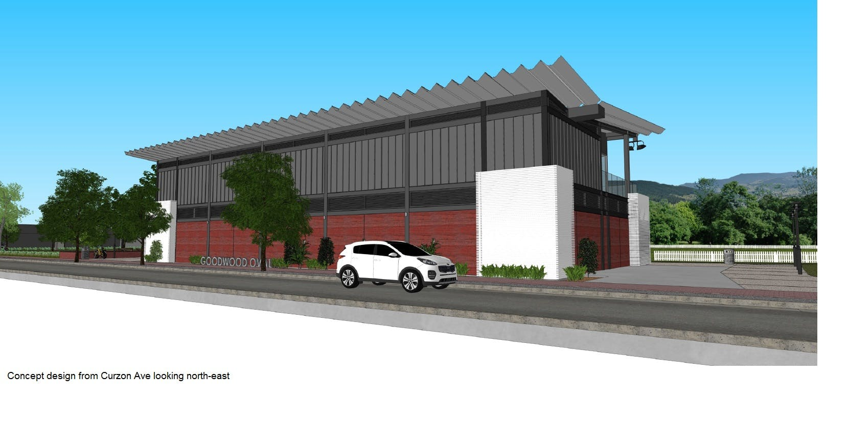 Concept Image of Goodwood Oval Grandstand Curzon Ave NE
