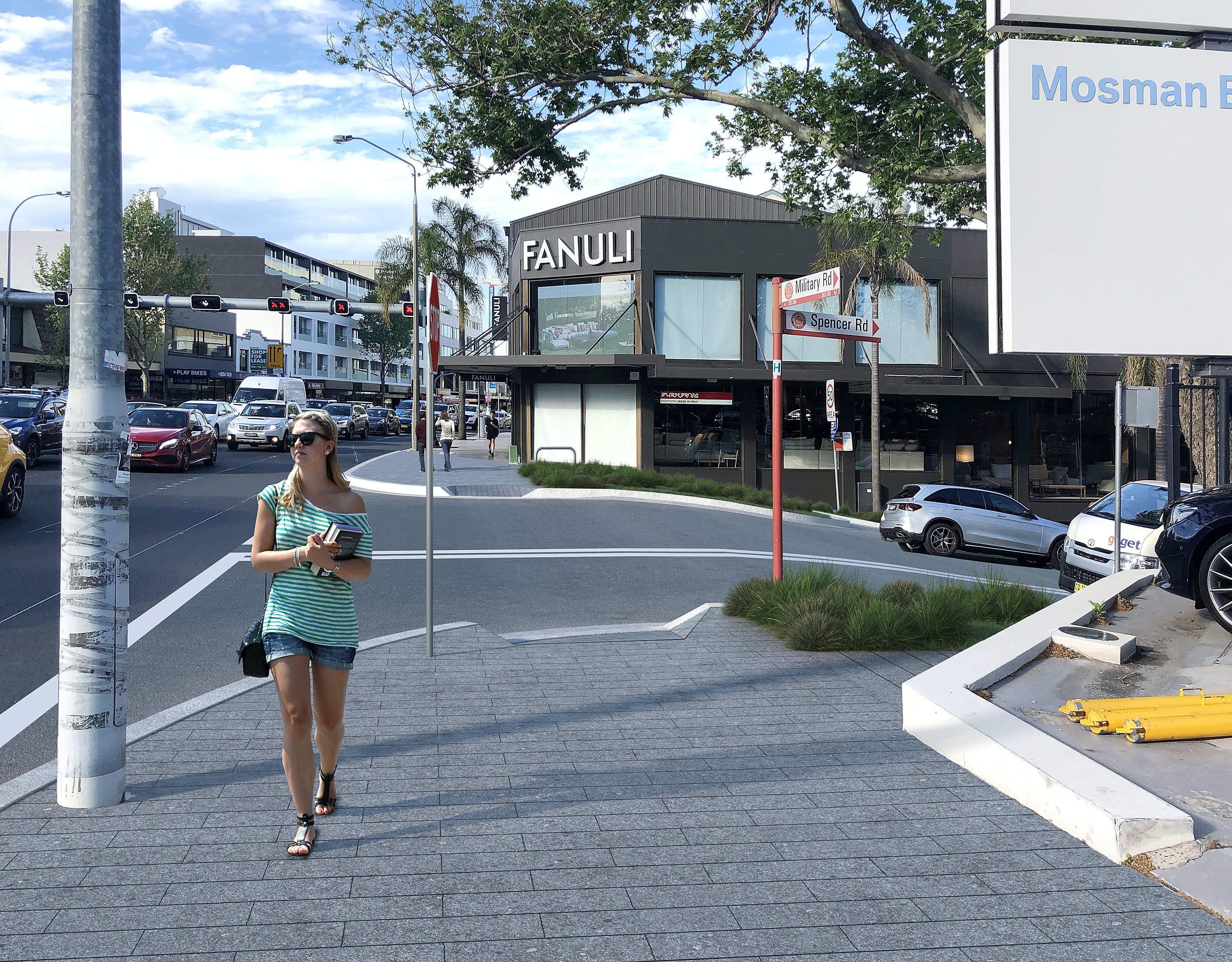 Spencer Road Option B - Photomontage, Street Level