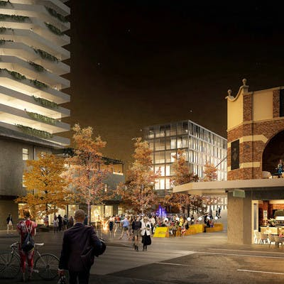 JBA entry - Anzac Pde towards Middle Street mall