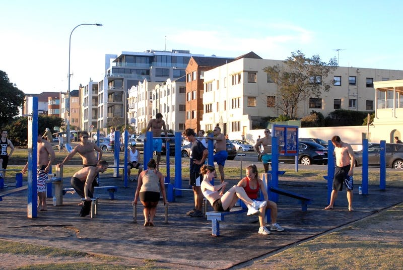 Bondi Park fitness station in use