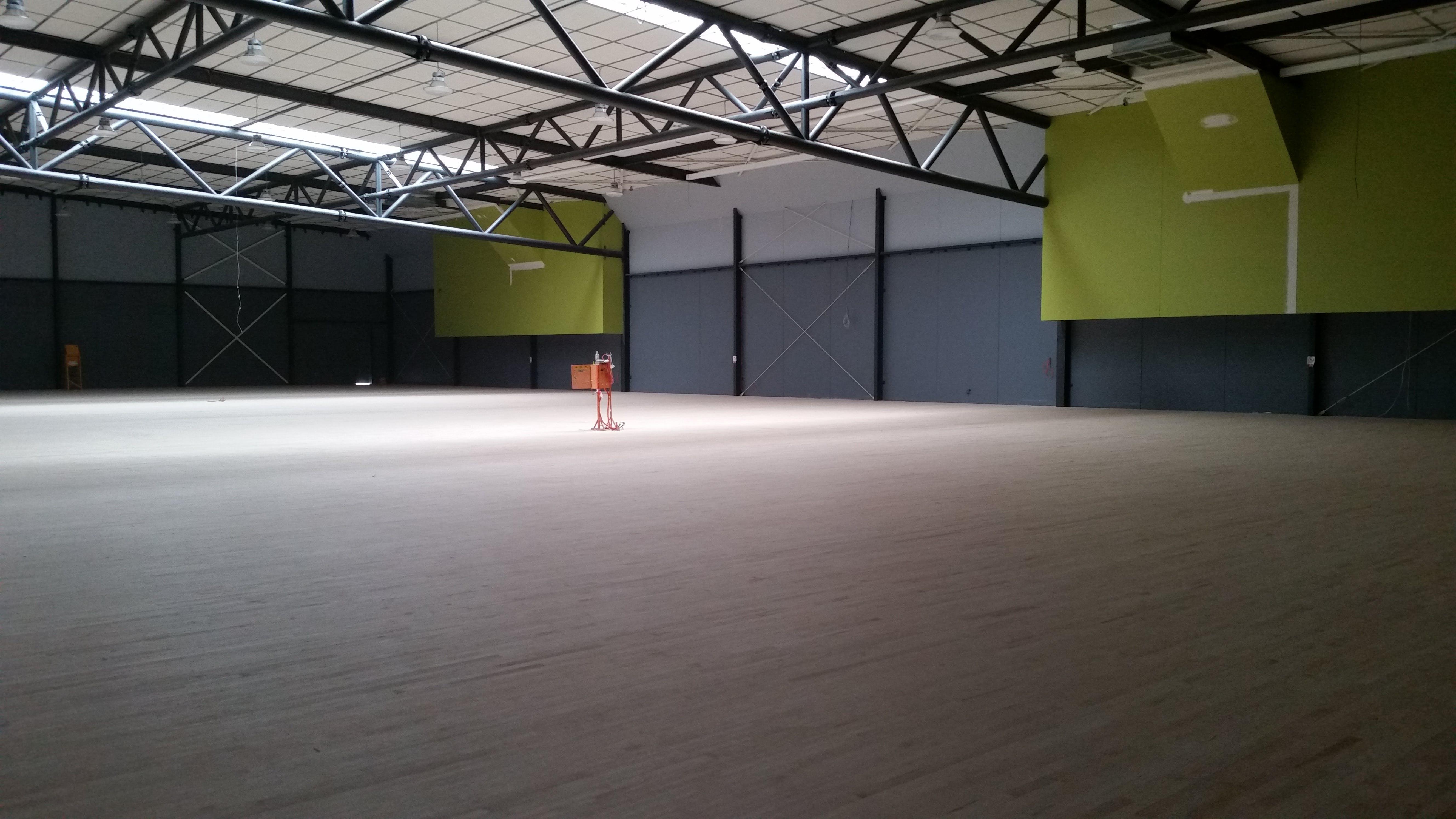 Mullum Mullum Stadium interior court space February 2018