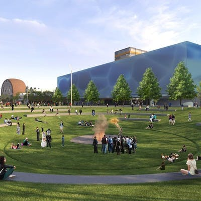 The Macquarie Point vision 2050 was created by MONA
