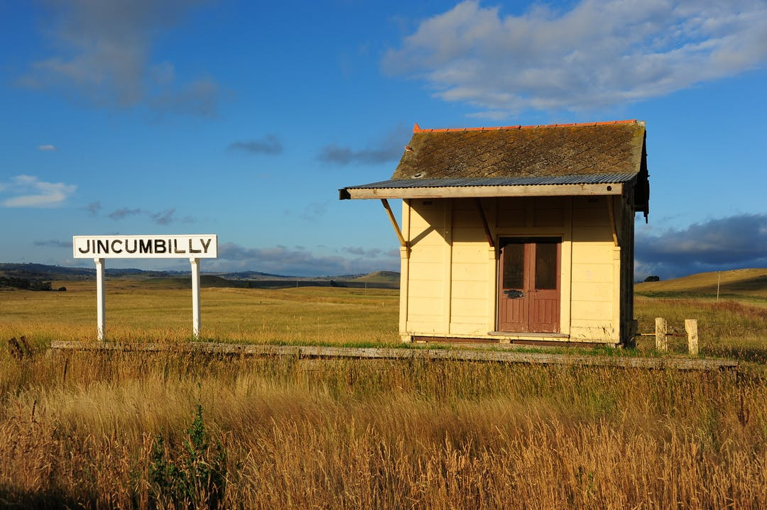 The proposed Monaro Rail Trail would take in numerous historic rail stations, like this one, the Jincumbilly Railway Station. Photo by Jillian Graham.