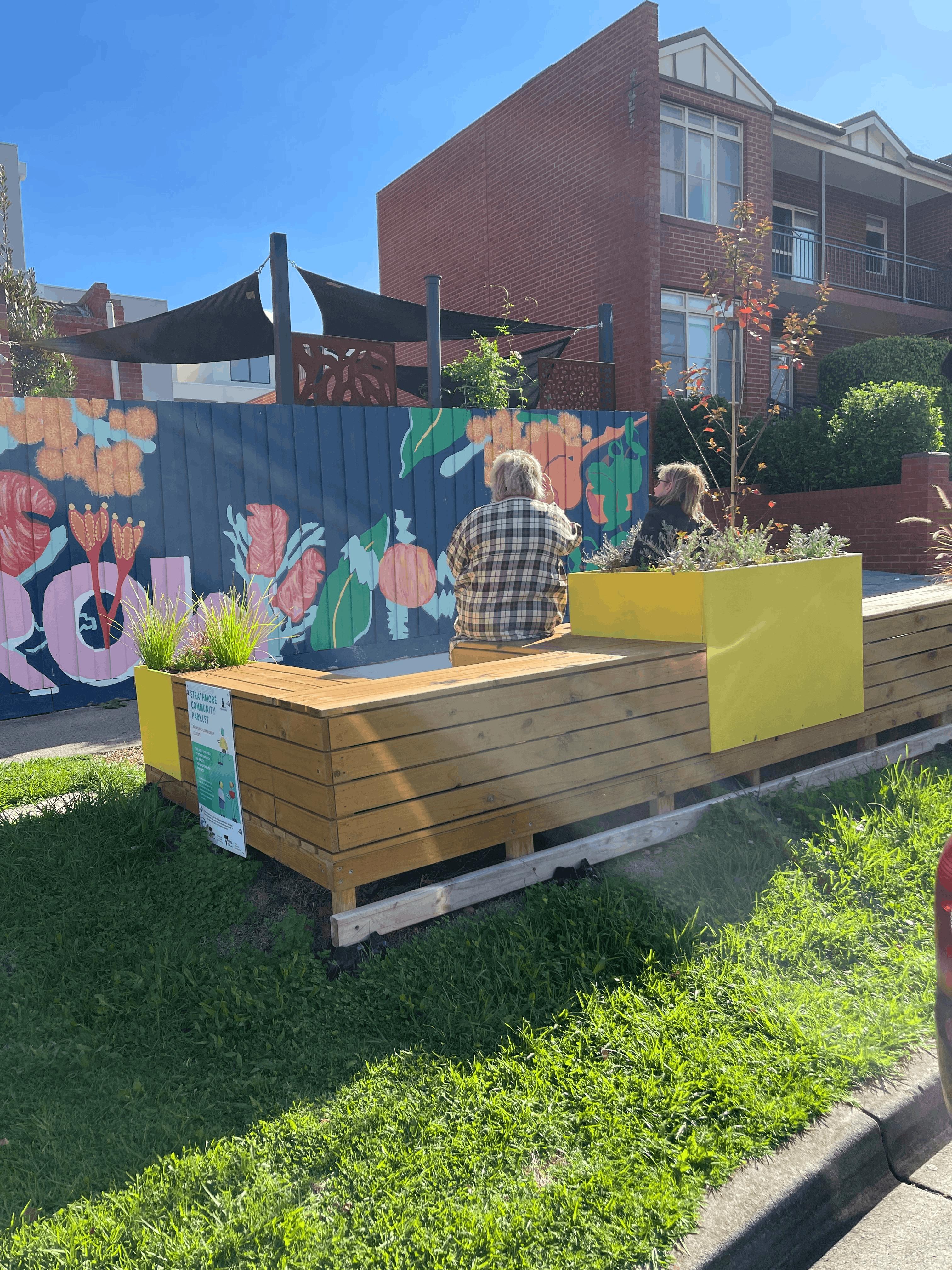 Community Parklet on North Avenue