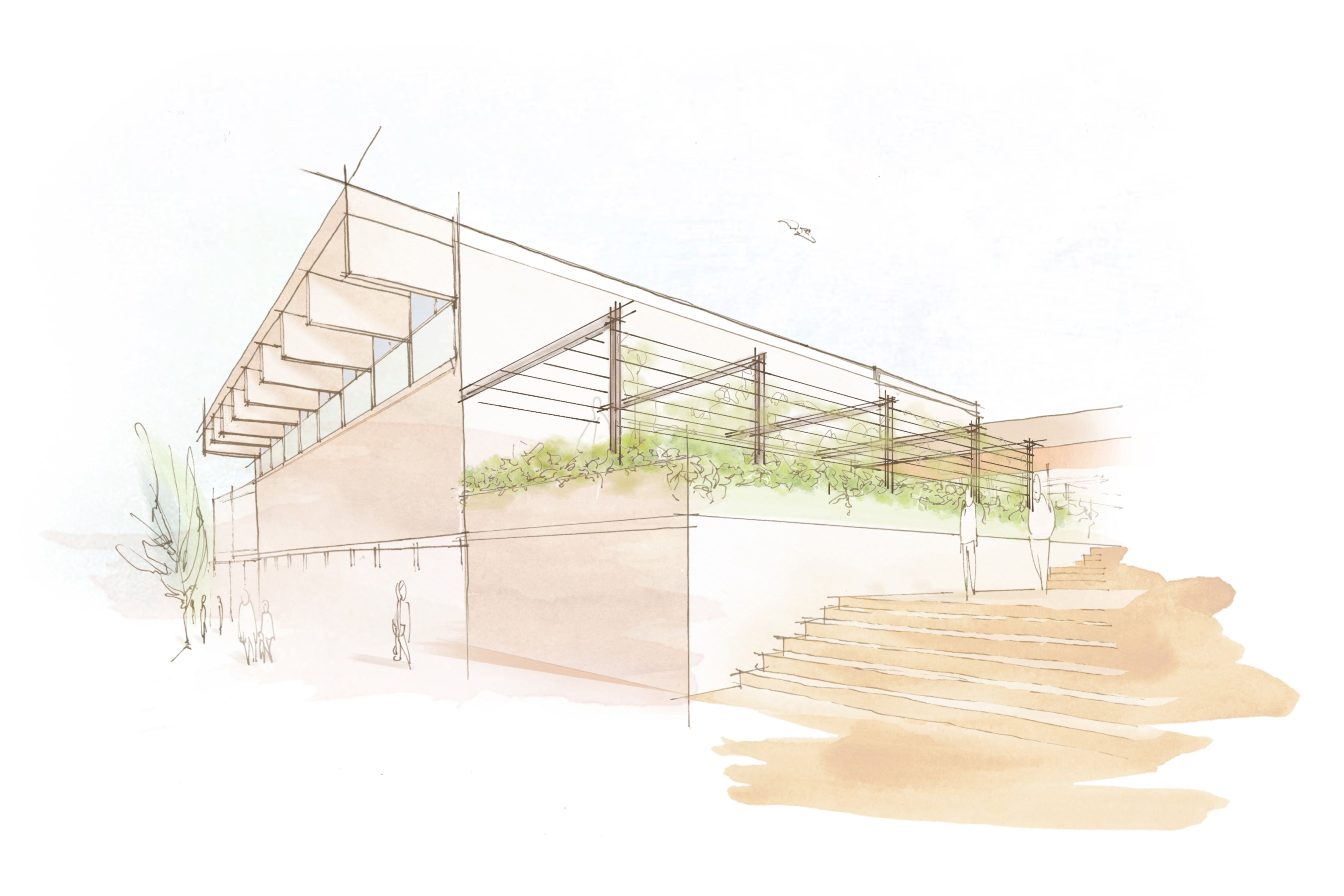 Artist's impression only of how the external space could look