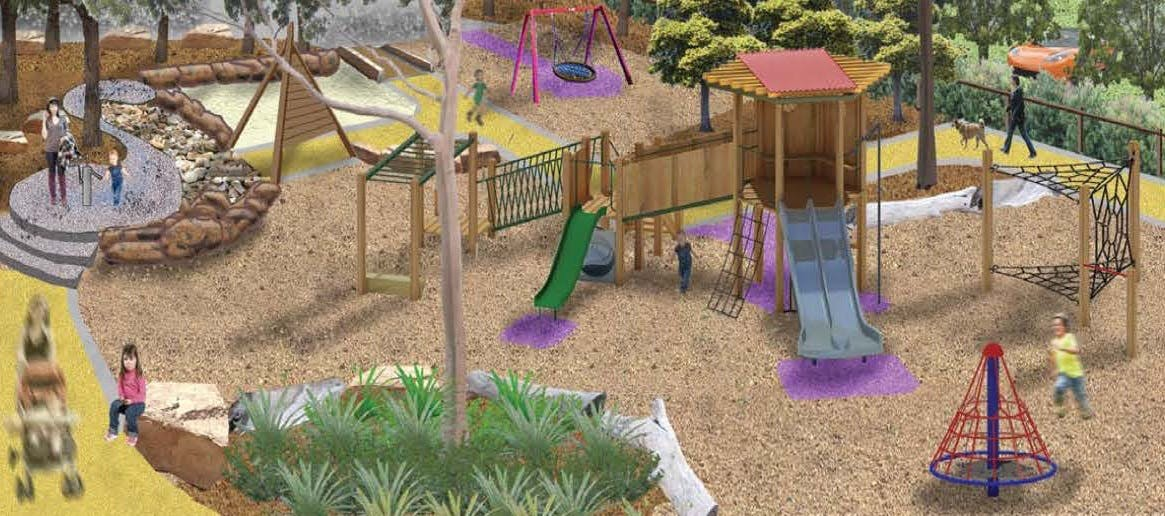 Concept plan for the new designs for the Bonbeach Recreation Reserve Playground