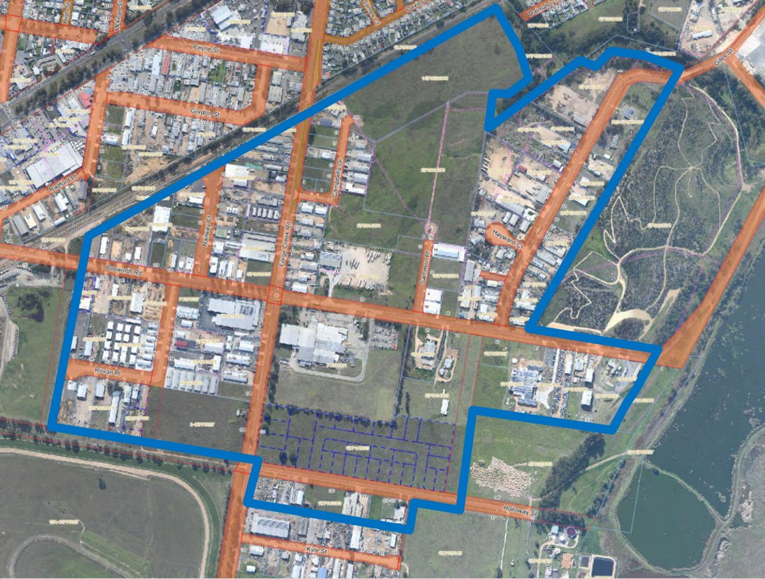 Map of South Bairnsdale Industrial Estate
