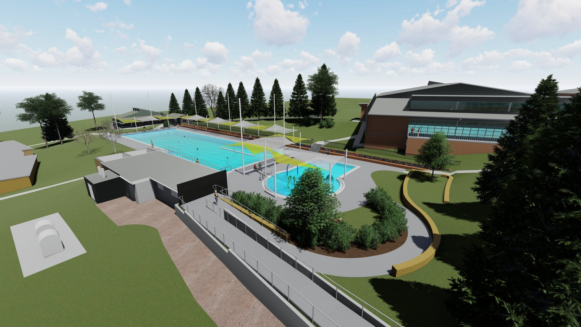 Accessible Walkway and Children's Pool - concept design