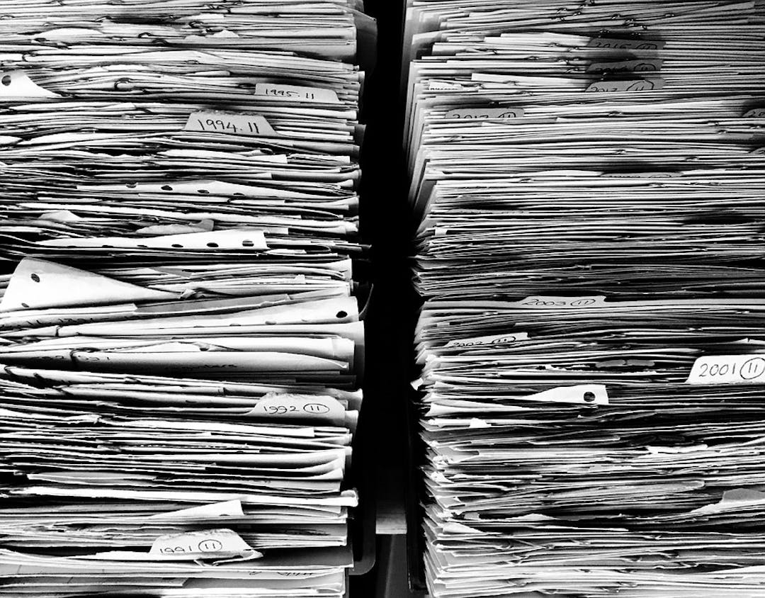 Paperwork stack office paper data work files 1614223
