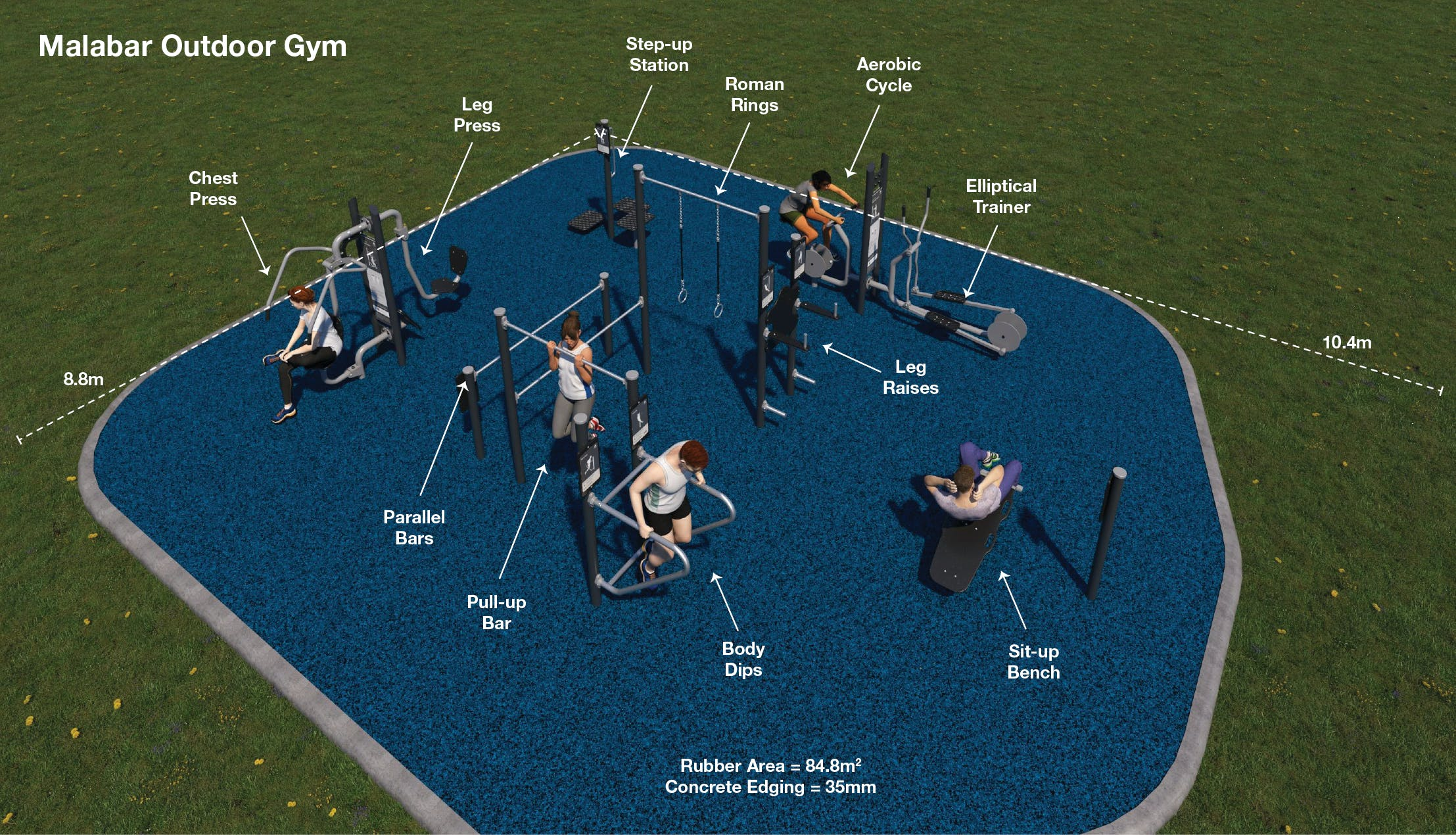 Malabar outdoor gym layout