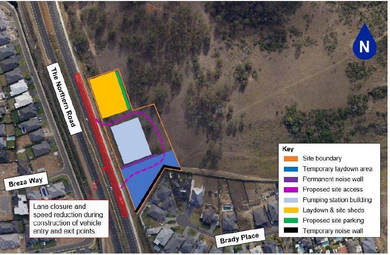 Harrington Park - pumping station construction July 2021 - August 2022