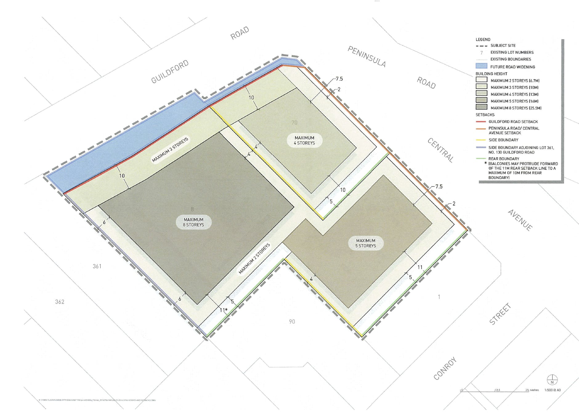 Proposed Building Envelopes and Heights