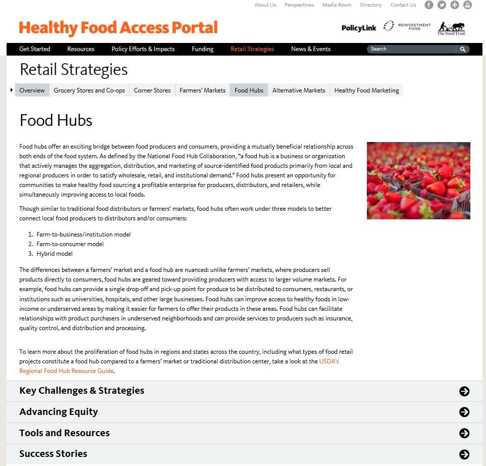 Healthy Food Access Portal