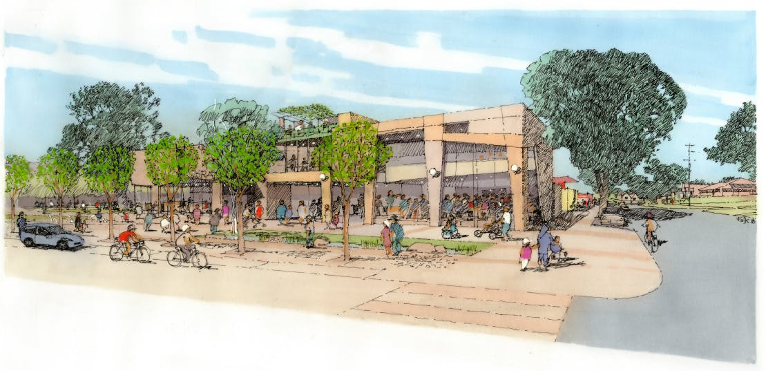 Sketch of Future Hampton Park Central Precinct