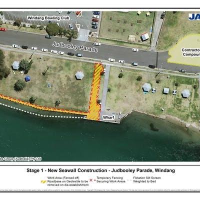 Stage 1: New Seawall Construction - Judbooley Parade, Windang