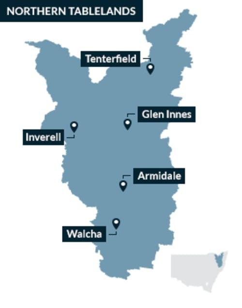 The Northern Tablelands region