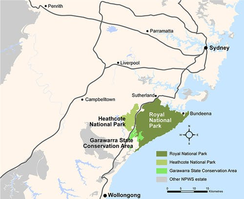 Map Of Royal National Park Location