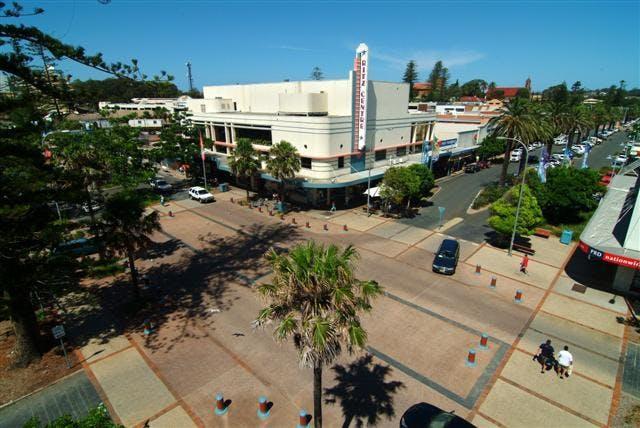 Port Macquarie Town Centre aerial photo