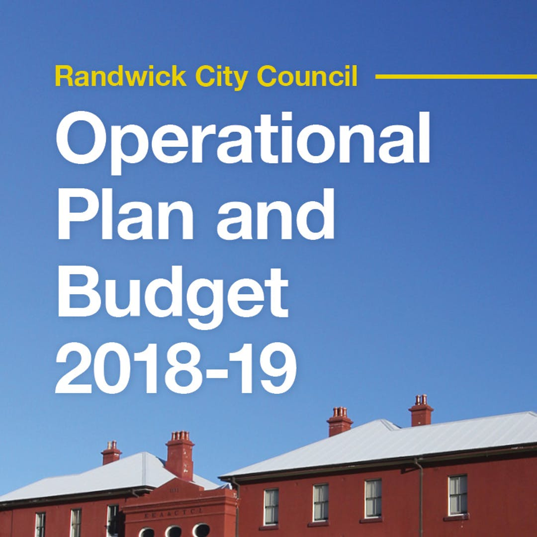 Budget 2018-19 | Your Say Randwick
