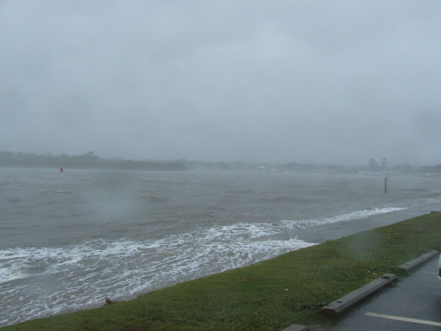 Storm surge at Cabbage Tree Creek