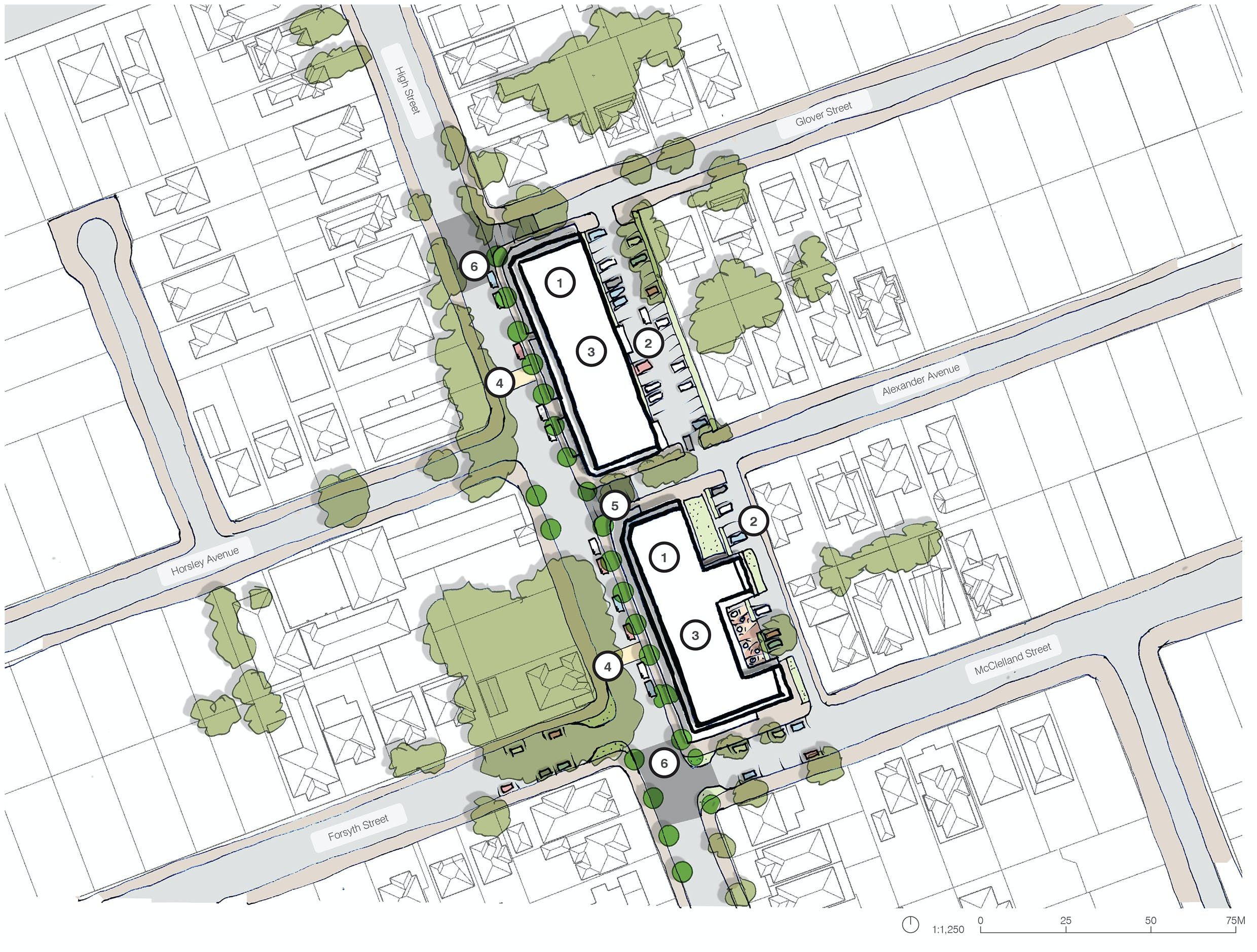 Indicative High Street Master Plan