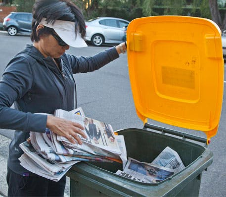 Kerbside recycling services are widely available across NSW