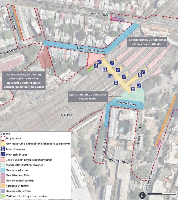Redfern Station Upgrade - project site overview