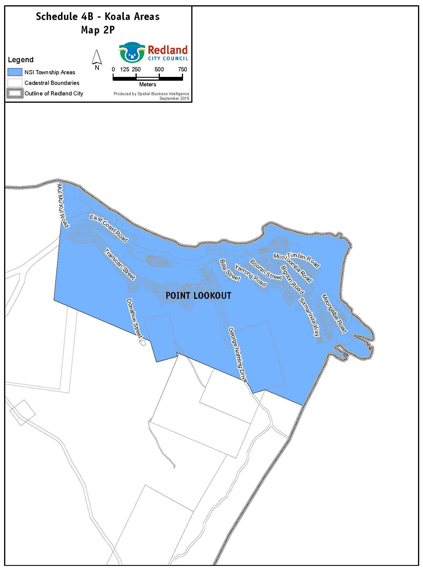 Koala Areas - Map NSI 2P