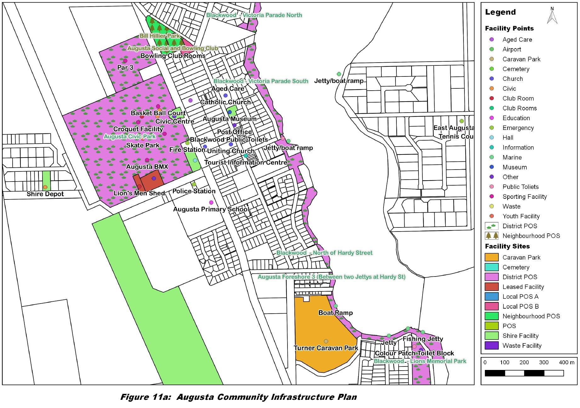 Augusta Town Centre Map