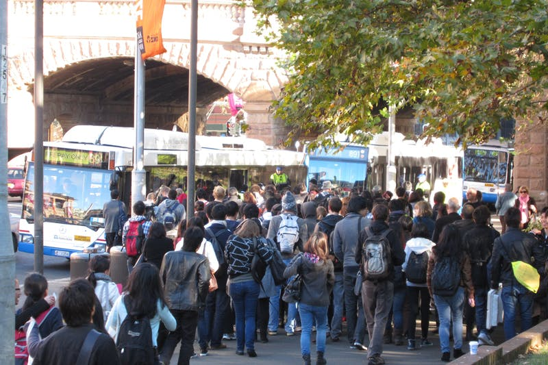 UNSW students queue at Central