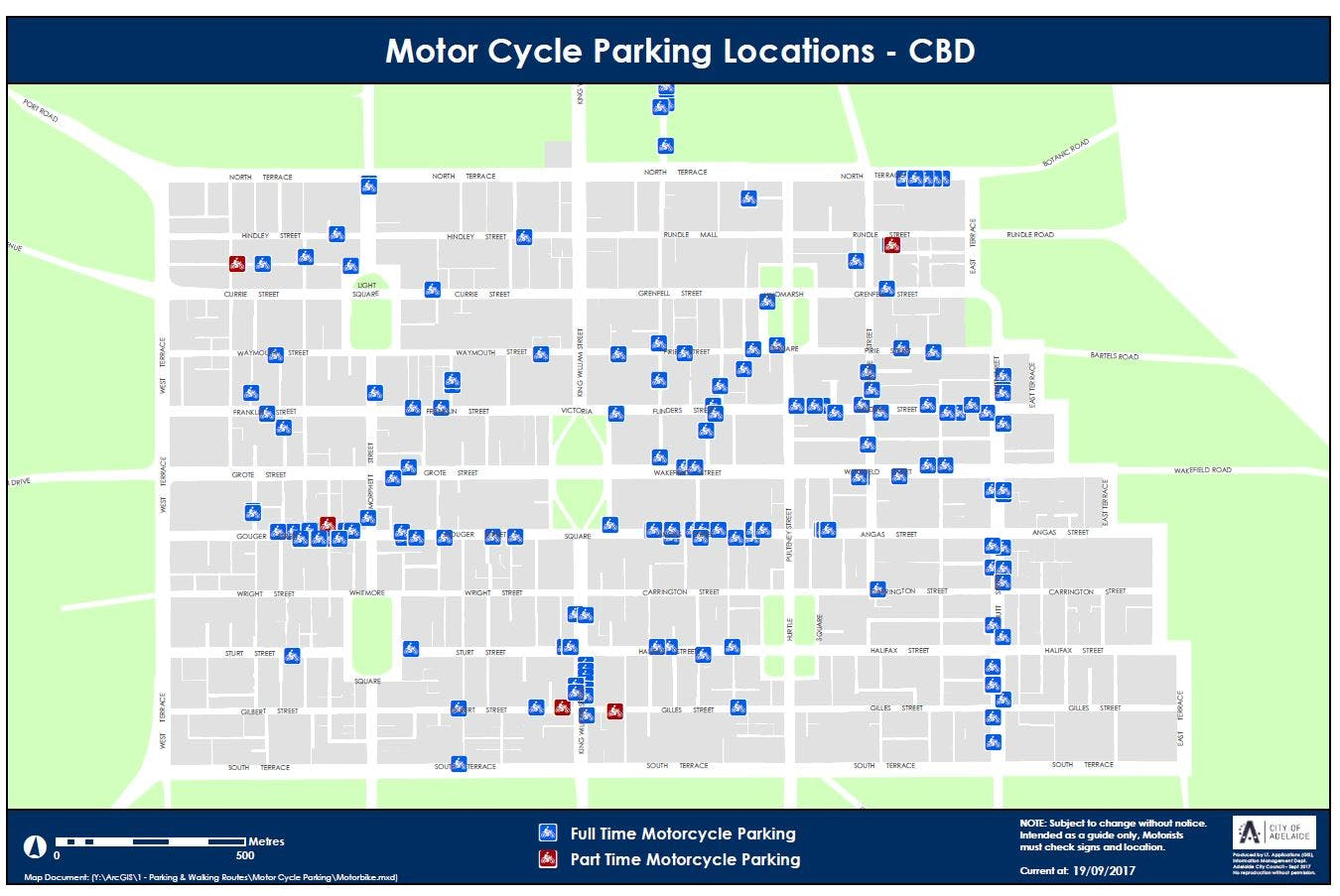 Motor Cycle Parking Locations In Adelaide Cbd