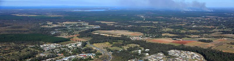 Beerwah from the air.