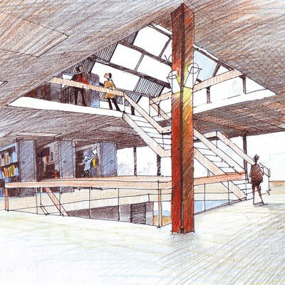 Option A - Artists Impression of Library Interior
