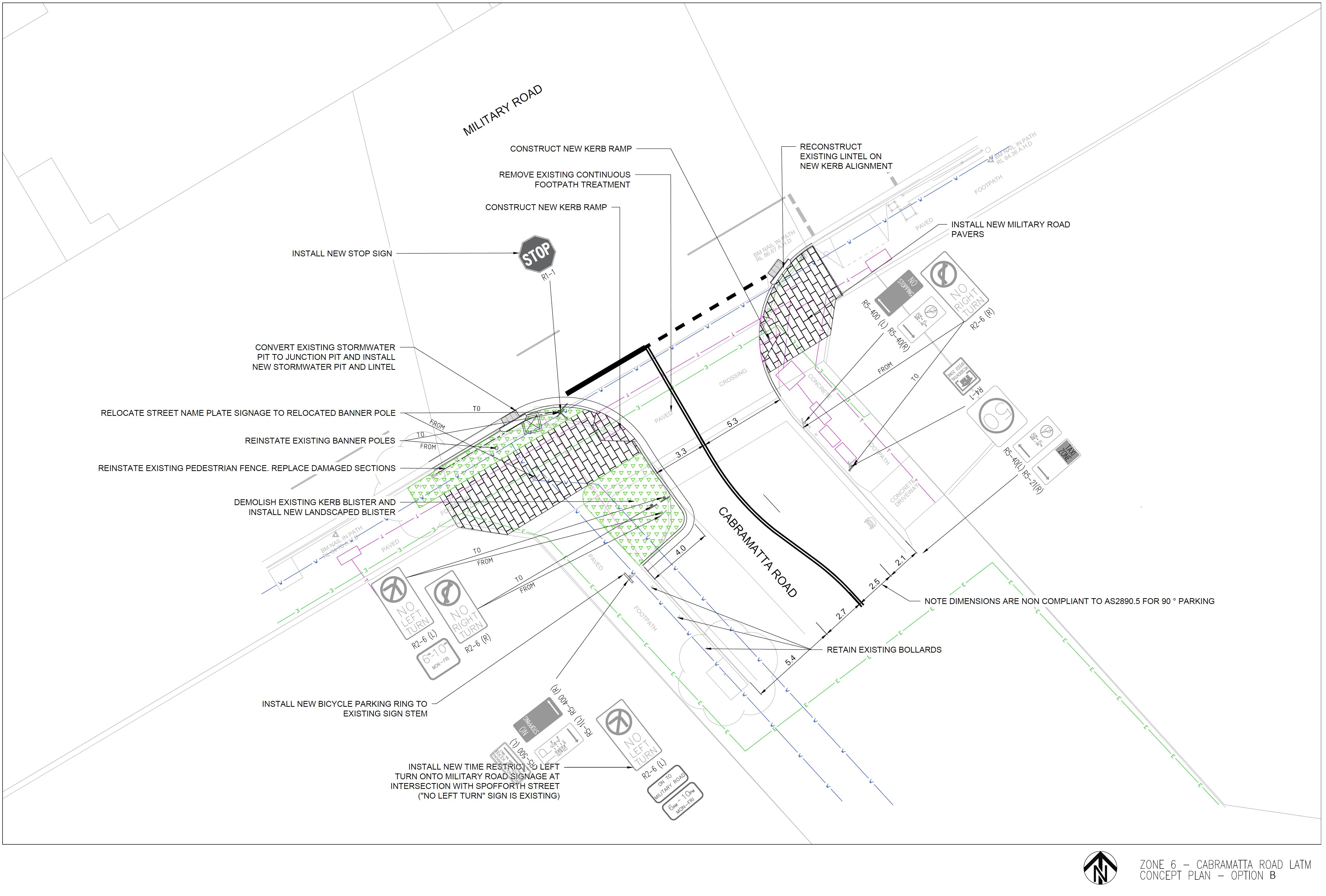 Cabramatta Road Option B - 2D Design