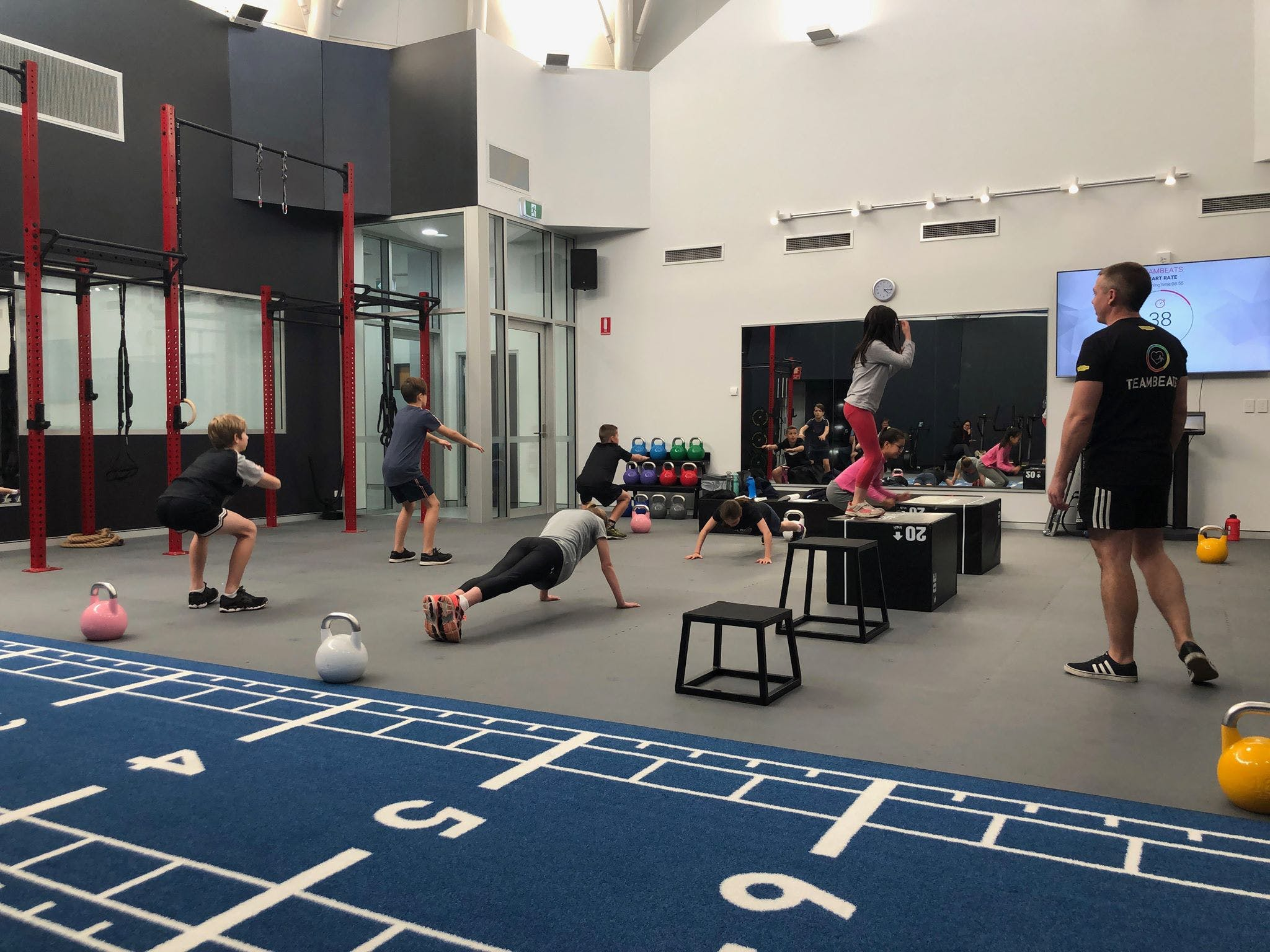 Sports Development class in action at the FIIT Factory (Riverton Leisureplex)
