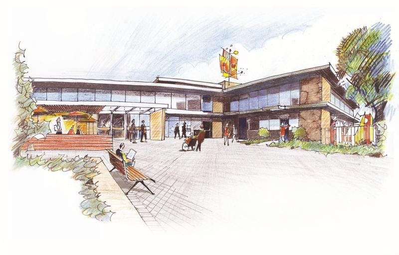 Option A - Artists Impression of upgraded Civic Centre