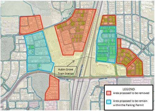 Aubin Grove proposed changes to parking permits