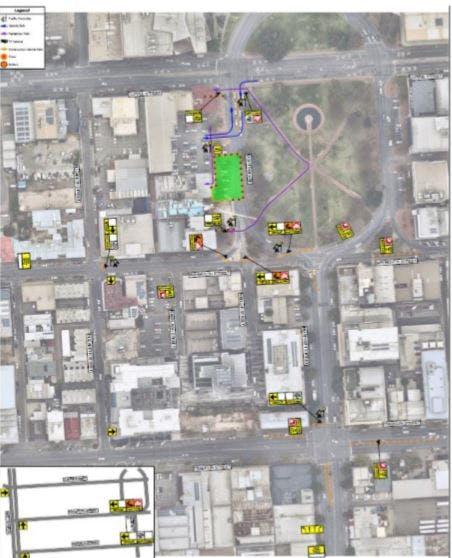Traffic Management Plan. Hindmarsh. Day Closure Of Morphett St