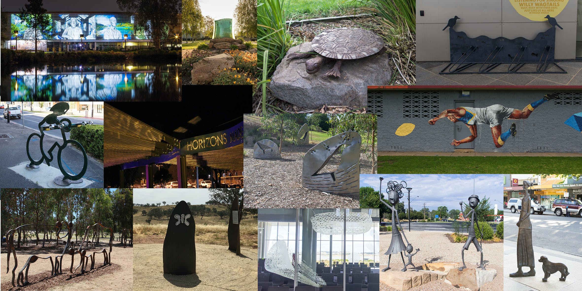Examples of public art in Wagga Wagga and surrounds