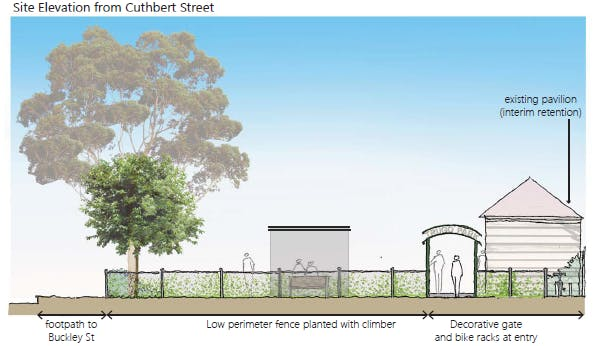 Site Elevation From Cuthbert St