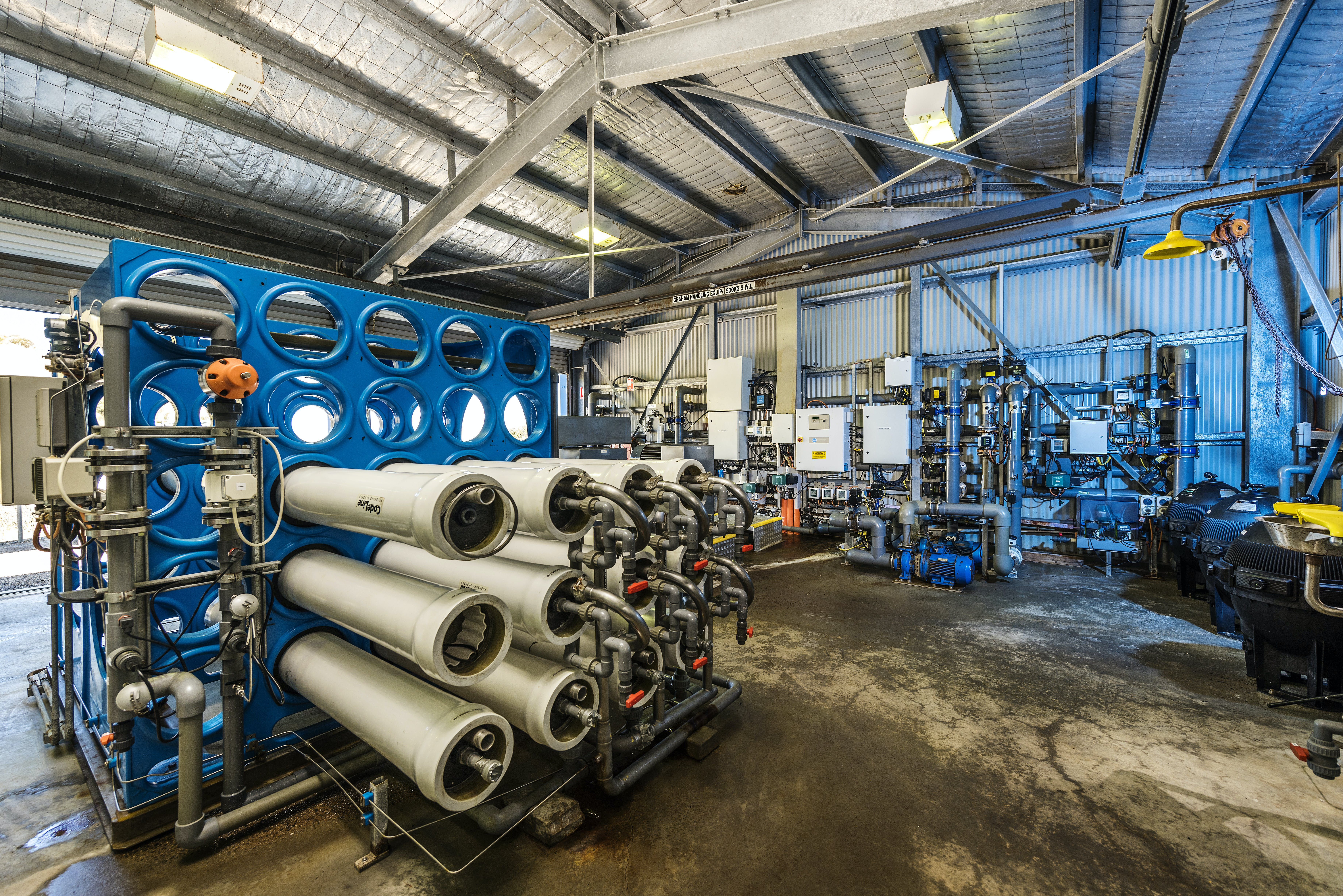 Inside the existing Penneshaw Desalination plant