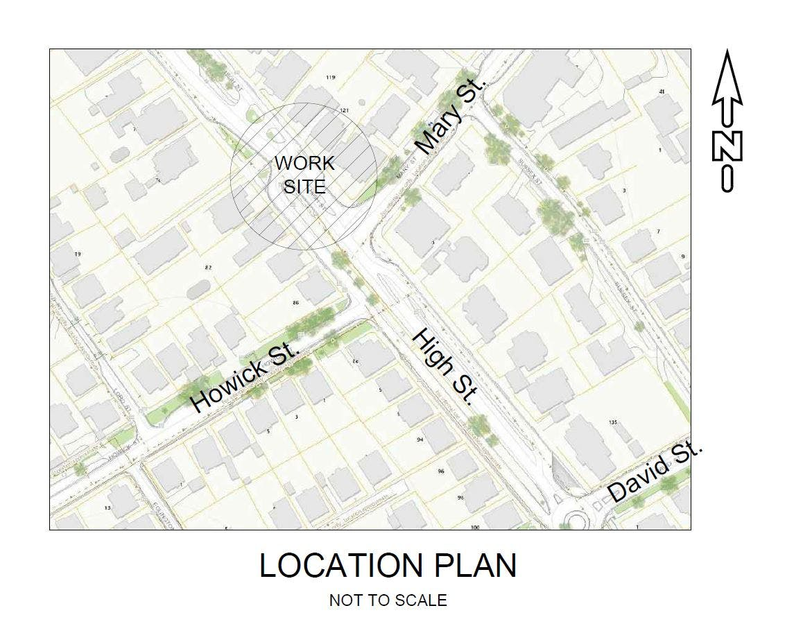 High Street Howick Street Location Plan