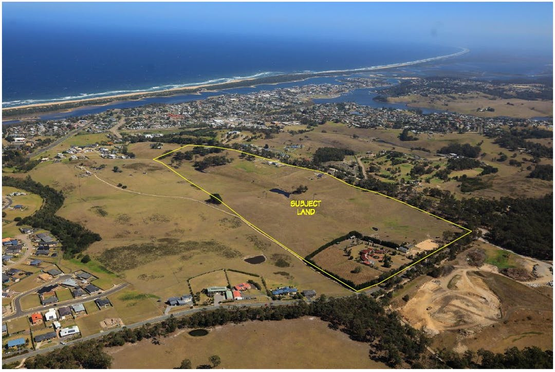An image of the subject land at 110 Palmers Road and 30 Thorpes Lane Lakes Entrance