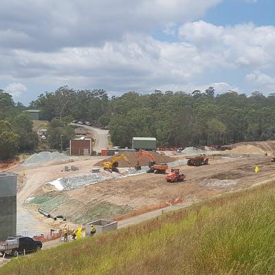 Main area of construction, January 2019
