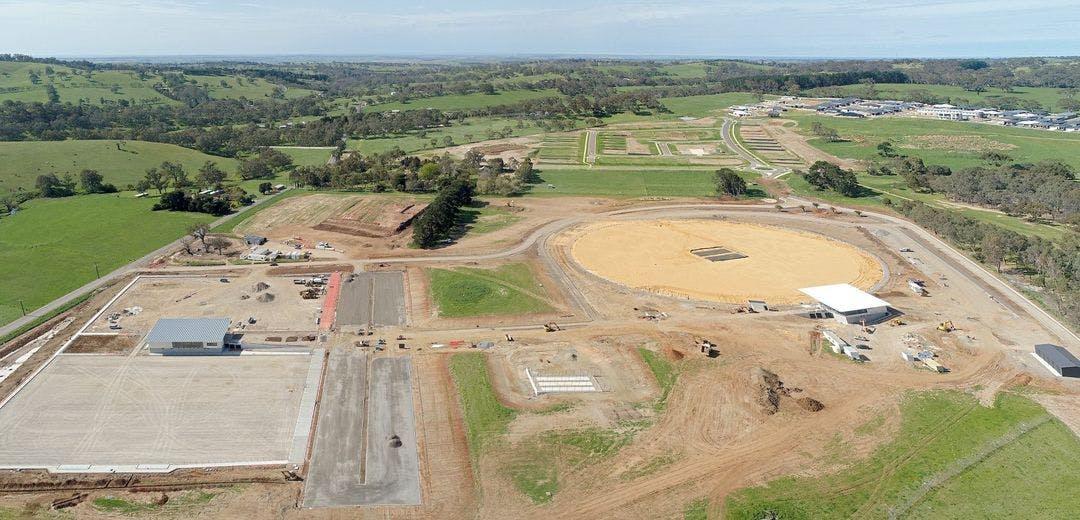 Sports hub construction - drone image (September 2020)