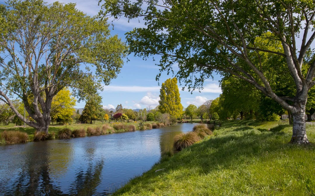Scenic photo of the Otakaro Avon River