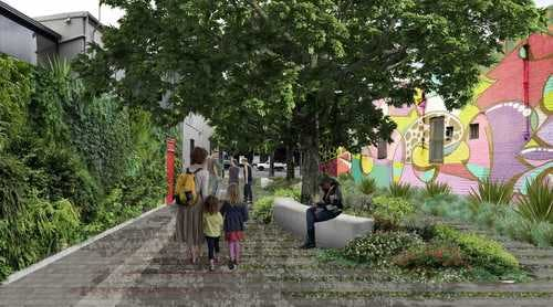 Petersham St Plaza Artist Impression